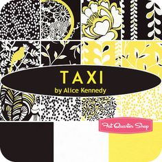 Taxi Fat Quarter Bundle Alice Kennedy for Timeless Treasures Fabrics - Fat Quarter Shop