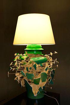 lamps, artists, sculptures, green, explosion, los carpintero, the artist, blog, light