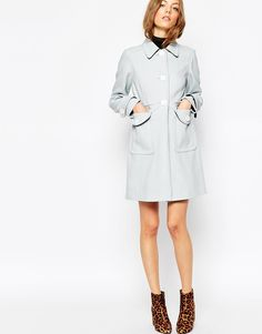 ASOS+Swing+Coat+with+Contrast+Button+Detail