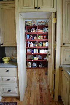 Hidden walk-in pantry - love it!!