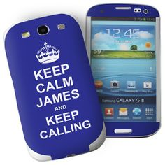 Personalised Blue Keep Calm Samsung Galaxy S3 Phone Skin  from Personalised Gifts Shop - ONLY £7.99