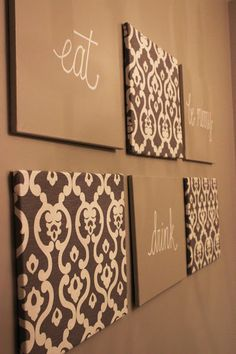 Easy DIY Wall Art ~ For the Dining Room