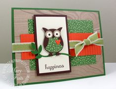 stampin up card samples | Stampin up owl punch splitcoaststampers