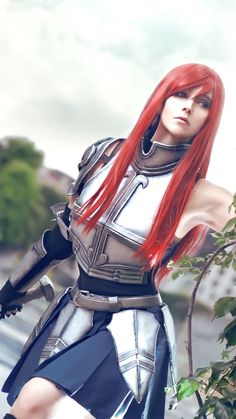 Terrific No Cost fairy tail cosplay Style - Makeup İdeas Fairy Erza Cosplay, Erza Scarlet Cosplay, Fairy Tail Cosplay, Naruto Cosplay, Marvel Cosplay, Anime Cosplay, Fairy Tail Costumes, Cosplay Pokemon, Fairy Tail Meredy