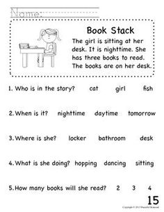 Beginning reading worksheets beginning readers comprehension packet for early education or special education beginning reading worksheets . Reading Comprehension Worksheets, Reading Fluency, Reading Passages, Kindergarten Reading, Reading Strategies, Teaching Reading, Reading Activities, Education Quotes For Teachers, Early Education