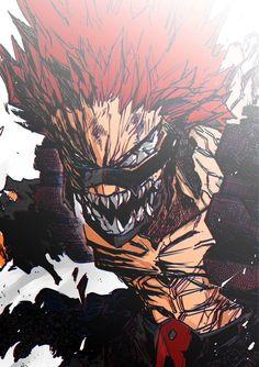 Boku no hero academia -kirishima eijirou,amazing art Boku No Hero Academia, My Hero Academia Memes, Hero Academia Characters, My Hero Academia Manga, Anime Characters, Kirishima Eijirou, Manga Anime, Anime Art, Otaku Anime