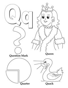 my a to z coloring book letter q coloring page