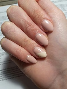 Nail art using Diamond Cosmetics Semilac colour Frappé and Almond butter