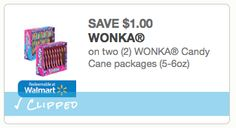 New and rare $1/2 Wonka Candy Canes printable coupon now available! - http://printgreatcoupons.com/2013/11/16/new-and-rare-12-wonka-candy-canes-printable-coupon-now-available/