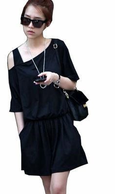 Summer Hot Womens Fashion Casual Solid Color Strapless Jumpsuit Short Romper