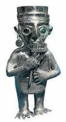 Статуэтка богини Луны. Золото. 13–15 вв. Инки