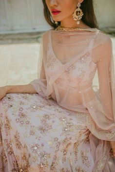 Beautiful baby pink lehenga choli by Pleats Mumbai WhatsApp us for Purchase & Inquiry : Buy Best Designer Collection from by Dress Indian Style, Indian Fashion Dresses, Indian Designer Outfits, Designer Dresses, Indian Designers, Indian Attire, Indian Ethnic Wear, Indian Lehenga, Lehenga Choli
