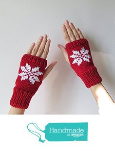 Hand Knit Fingerless Gloves in Dark Red - Embroidered Snowflake - Seamless Knit Gloves - Wool Blend - Made to Order from NaryaBoutique https://www.amazon.com/dp/B01LFJDHUO/ref=hnd_sw_r_pi_dp_UoV7xbA2RC68A #handmadeatamazon