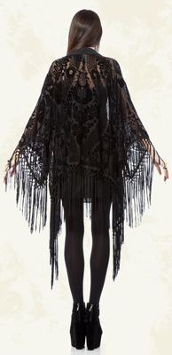 Crystal Visions - Velvet Burnout Tassle Robe