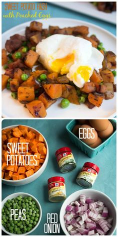 Sweet Potato Hash with Poached Eggs from our friend @fannetasticfood