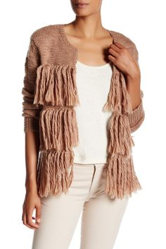 Alexandria Fringe Merino Wool Sweater by Trina Turk on @HauteLook