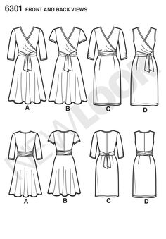 Simplicity Creative Group - Misses' Mock Wrap Knit Dress