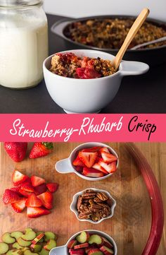 This recipe is the perfect  combination of sweet and sour, crunchy and gooey. It's so delicious and easy to make, it can even double as a breakfast! Check it out here: http://www.cravingalaska.com/strawberry-rhubarb-crisp/