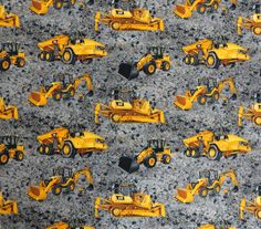 Caterpillar Construction Equipment with Gravel Background Fabric