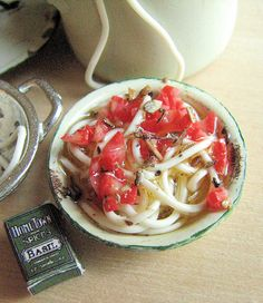 Dollhouse pasta with tomatoes by goddess of chocolate, via Flickr