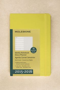 Buy Moleskine - 2015-2016 18 Month Diary - Weekly Notebook - Large (13x21cm) - Hard Cover - NoteMaker Stationery