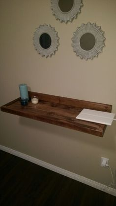 Sweet floating shelf... Dado'd the entire shelf into the back which made it very strong...