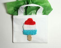 Popsicle Gift Bag. Crochet pop treat bag. by MsAmandaJayne on Etsy, $5.50