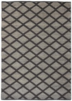 Flatwoven In India From A Blend Of Wool And Jute, Diamond Chocolate  Features A Striking