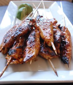Chili Garlic & Lime Chicken Satay Skewers