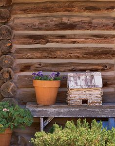 Want to experience the goodness of living in a country-style house and away from the city, and if you love hands-on, log cabin kits is the solution. Log Cabin Living, Log Cabin Kits, Log Cabins, Cabin Ideas, Rustic Design, Rustic Style, Outdoor Landscaping, Outdoor Decor, Rustic Background