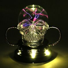 A chilling aura will run through your Halloween scene with this Halloween Skull Plasma Ball with LED Bulb from Hyde and Eek! Boutique™. The electrocuted skull is all you need to spook your trick-or-treaters — all in good Halloween fun, of course.