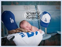 Dodgers!!! omgeeee this is going to be my baby pics if iever have kids