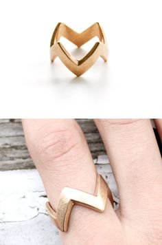 Chevron Ring - Reminds me of Charlie Brown