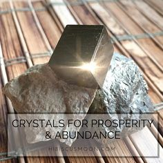 Want to manifest Money, Prosperity, and Abundance? There's a crystal for that!