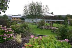 Slieve Aughty Centre with our beautiful sedum roofed pergola perfect for an outdoor Wedding ceremony. Sedum Roof, Riding Holiday, Organic Restaurant, Beautiful Homes, Eco Friendly, Pergola, Places To Visit, Patio, Towers