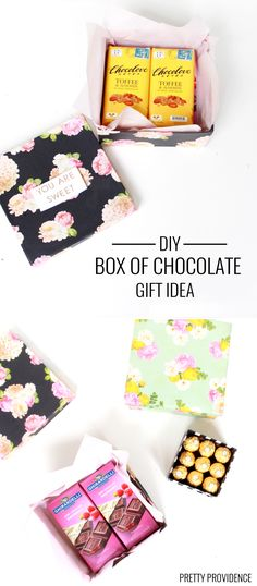 Fill a box with your favorite fancy chocolate for Mother's Day!! No more assortments!  Idea from MichaelsMakers Pretty Providence