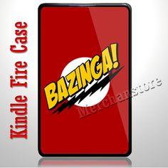 Bazinga Big Bang Theory Sheldon Cooper  Kindle Fire Case | Merchanstore - Accessories on ArtFire