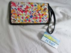 NEW HALF THE SKY WOVEN Candy Wrapper Wristlet Wallet Purse Evening Bag MULTI
