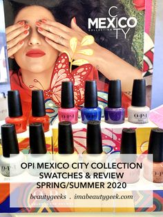 It's the upcoming OPI Mexico City Collection for Spring/Summer Let's look at all da swatches! Opi Gel Nail Colors, Opi Nail Polish Colors, Opi Colors, Pretty Nail Colors, Spring Nail Colors, Opi Nails, Manicures, Nail Polishes, Opi Red