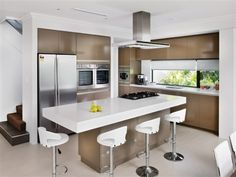 Modern Kitchen Designs With Islands u-shaped kitchen designs with breakfast bar and island bench