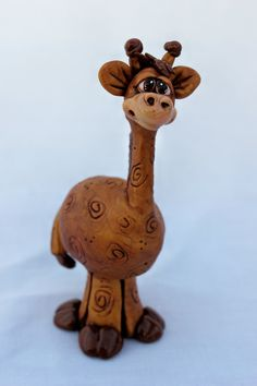 Mini Giraffe Polymer Clay Sculpture. $28.00, via Etsy.