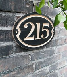 Oval House Number Engraved Plaque (numbers only) Housewarming Gift, Realtor, Address Sign, House Number Plaque, carved wood sign - Today Pin Wooden Front Doors, Front Door Signs, Door Numbers, House Numbers, House Address Numbers, Cnc, Address Plaque, Address Signs, Screen House