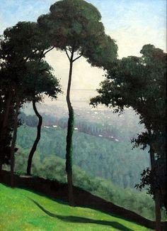 Felix Vallotton ~ vue de honfleur matin Morning view of Honfleur