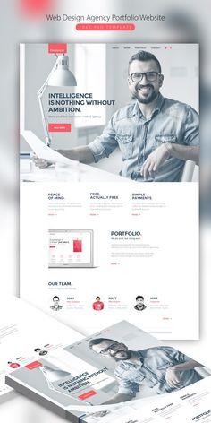 Graphic design web-design-agency-portfolio-website-free-psd-template Your Guide to Bathroom Planning Web Design Mobile, Web Design Agency, Web Design Tips, Web Design Trends, Web Design Company, Page Design, Design Agency Website, Web Design Websites, Design Ideas