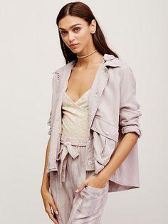 Zhenya Katava || FP Hooded Swingy Military Jacket (Lilac Ash)