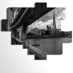 Multilevel and multipanel picture - 177x146 cm - London