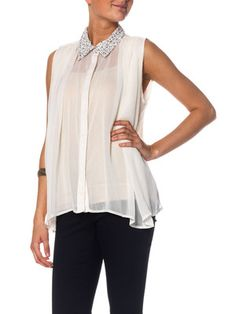 PEARLY LEO S/L TOP