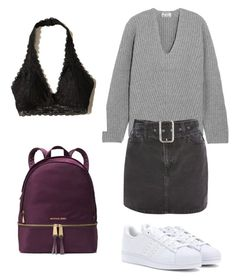 """Back 2 skool #2"" by karinstyleonly on Polyvore featuring adidas, MICHAEL Michael Kors, Acne Studios, Topshop and Hollister Co."