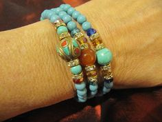 Jewelry Womans Bracelet Beaded Crystal by TheApicellaEdge on Etsy, $24.99