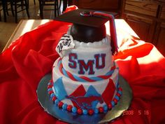 Unique Graduation Cakes | Southern Methodist University is in Dallas, and their team is the ...